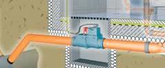 Канализационный клапан с электроприводом